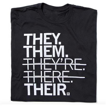 Raygun They Them Their T-shirt, Classic Cut