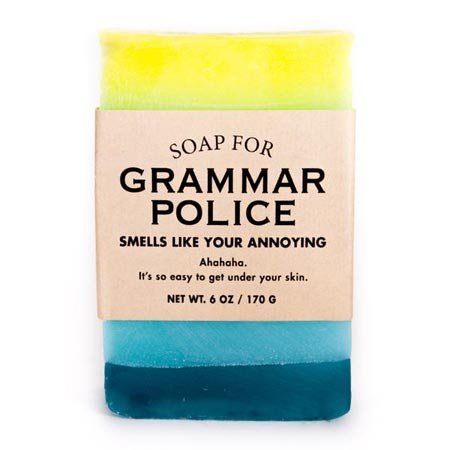 Whiskey River Soap Co. Soap for Grammar Police