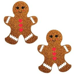 Neva Nude Nipztix Gingerbread Man Glitter Pasties