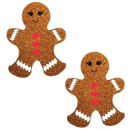 Nipztix Gingerbread Man Glitter Pasties