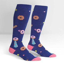 Sock It To Me Stretch It Glazed Galaxy Wide Calf Knee Socks