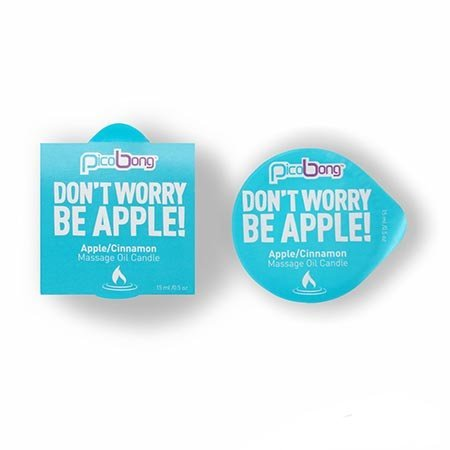 Pico Bong PicoBong Mini Massage Candle, Don't Worry Be Apple