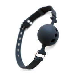Silicone Breathable Ball Gag with Silicone Strap, 1.75 inch ball