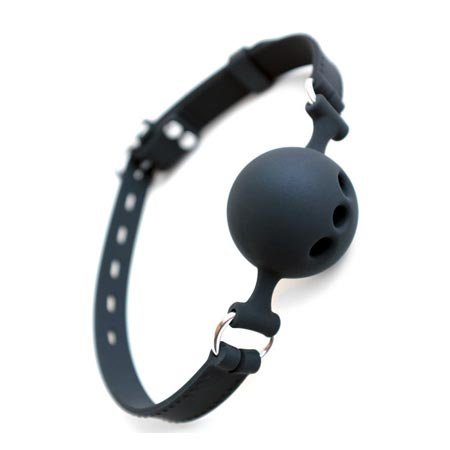 Silicone Breathable Ball Gag with Silicone Strap