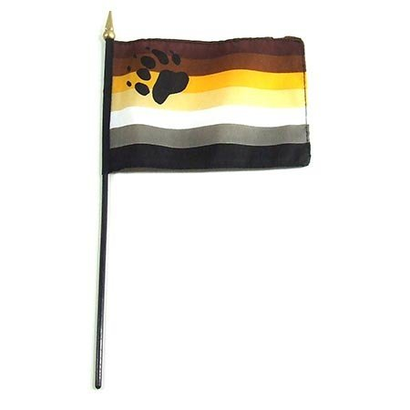 Bear Pride Stick Flag
