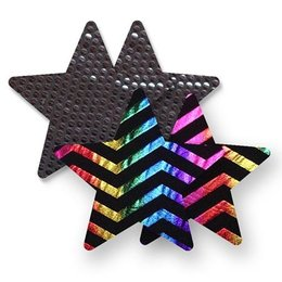 Bristols Nippies Midnight Rainbow Star Pasties