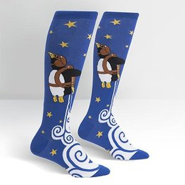 Sock It To Me Penguin Taking Flight Knee Socks