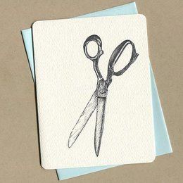 Foulmouth Greetings Scissor Greeting Card
