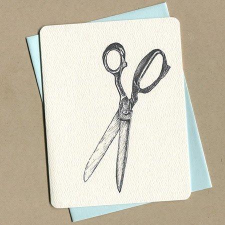 Foulmouth Greetings Scissor Greeting Card