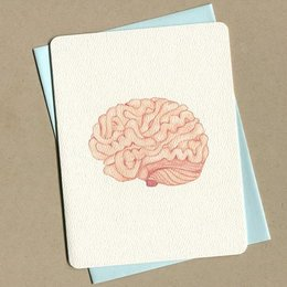 Foulmouth Greetings Brain Greeting Card