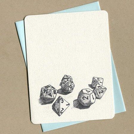 Dice Greeting Card