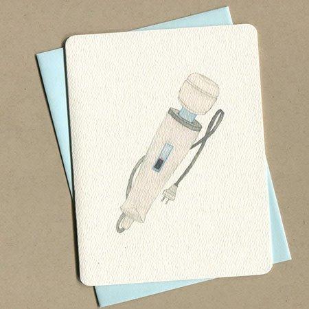 Foulmouth Greetings Hitachi Greeting Card