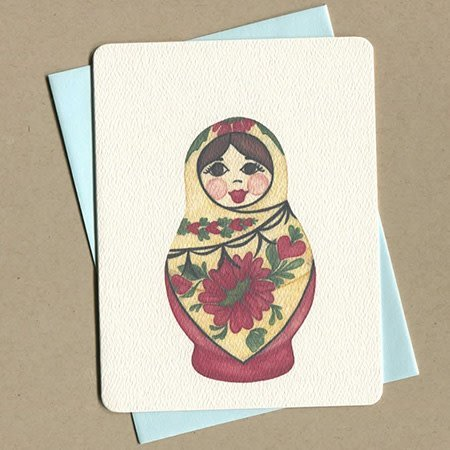 Foulmouth Greetings Nesting Doll Greeting Card