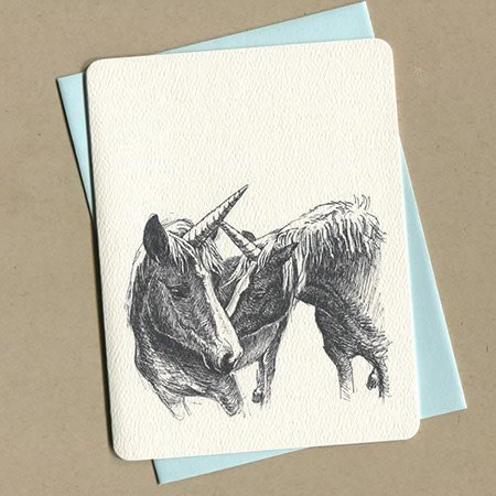 Foulmouth Greetings Unicorns Greeting Card