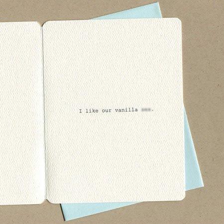 Vanilla Greeting Card