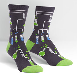 Sock It To Me Laboratory Crew Socks, Small