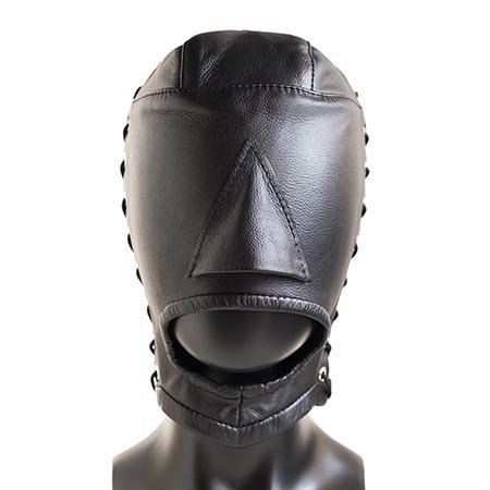 Stockroom Open Mouth Leather Hood