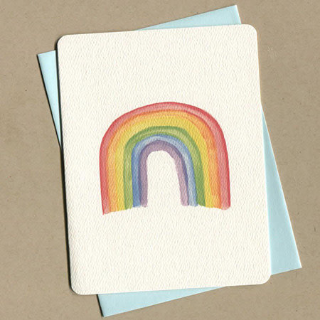 Foulmouth Greetings Rainbow Greeting Card