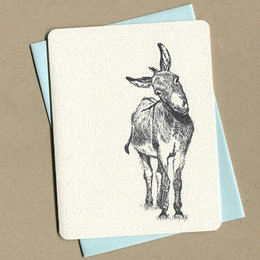 Foulmouth Greetings Donkey Greeting Card