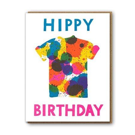 Hippy Birthday Greeting Card