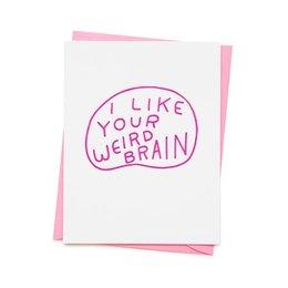 Ashkahn Weird Brain Greeting Card