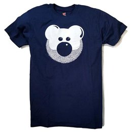 BurlyShirts Beardy Bear T-shirt, Navy