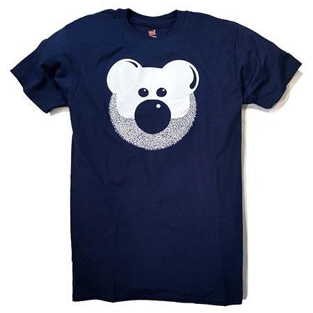 BurlyShirts Beardy Bear T-shirt, Navy