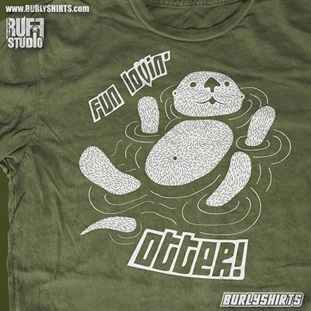 BurlyShirts Fun Lovin' Otter T-shirt