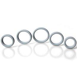 Rascal Boneyard Silicone Ring 5 Piece Kit, Gray