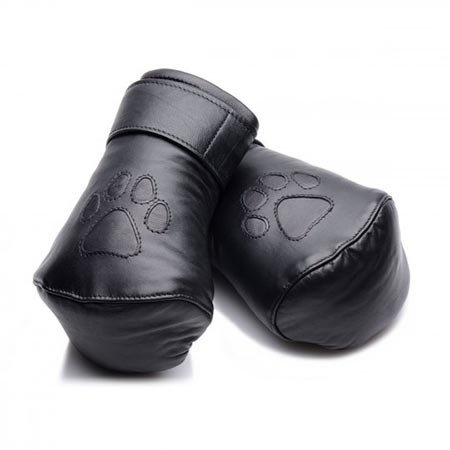 Padded Leather Puppy Mitts