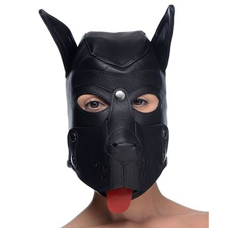 Strict Leather Leather Puppy Hood with Bendable Ears