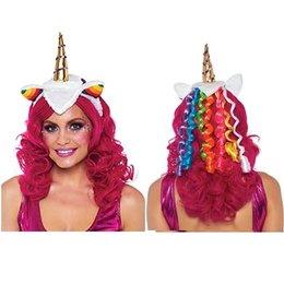 Rainbow Unicorn Headband A1962