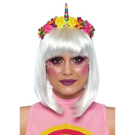 Leg Avenue Rainbow Unicorn Flower Headband A2846