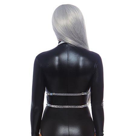 Leg Avenue Iridescent Studded Vinyl Body Harness 8285