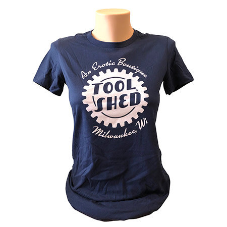 Tool Shed Tool Shed T-Shirt Fitted Hourglass Cut, Navy