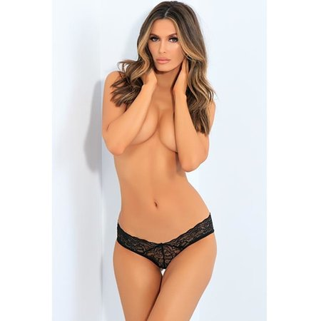 All Tied Up Open Back Panty 1152, Black