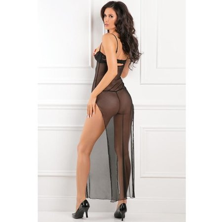 Rene Rofe All Out There Open Cup Dress 51003, Black