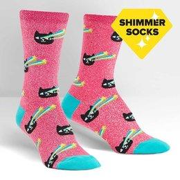 Pew! Pew! Shimmer Crew Socks