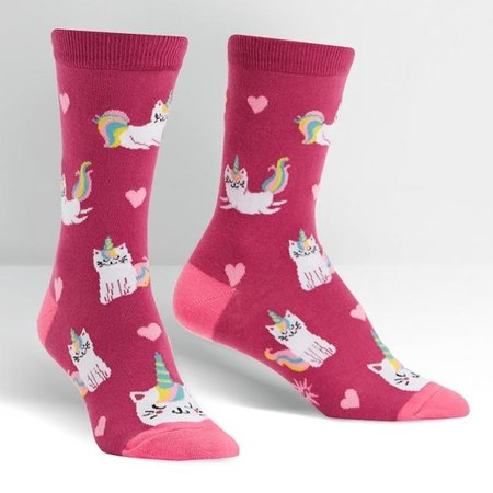 Sock It To Me Look at Me Meow Crew Socks