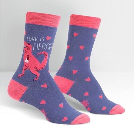 Sock It To Me Love is Fierce Crew Socks