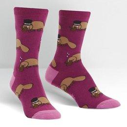 Sock It To Me Plati-tude Crew Socks