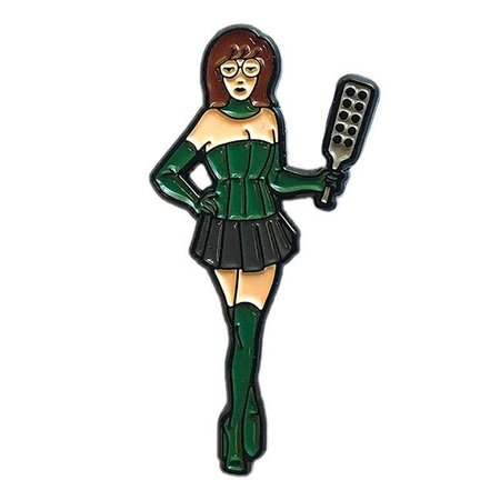 Geeky and Kinky MIstress D Paddle Enamel Pin