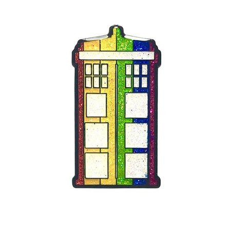 Geeky and Kinky Pride Phonebooth Enamel Pin