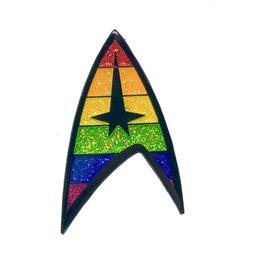 Geeky and Kinky Pride Trek Enamel Pin