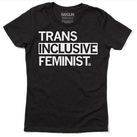 Raygun Trans Inclusive Feminist T-shirt, Hourglass Cut