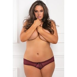 Rene Rofe Dive Deep Open Back Panty 1149, Burgundy