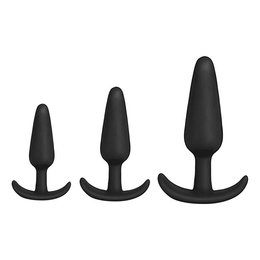 Doc Johnson Mood Naughty Anal Trainer Set of 3 Plugs