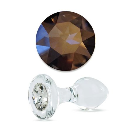 Crystal Delights Crystal Delights Small Clear Jeweled Plug, Stormy Crystal