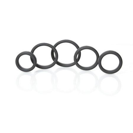 Boneyard Silicone Ring 5 Piece Kit, Black