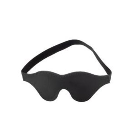 Spartacus Classic Leather Blindfold, Faux Fur Lining